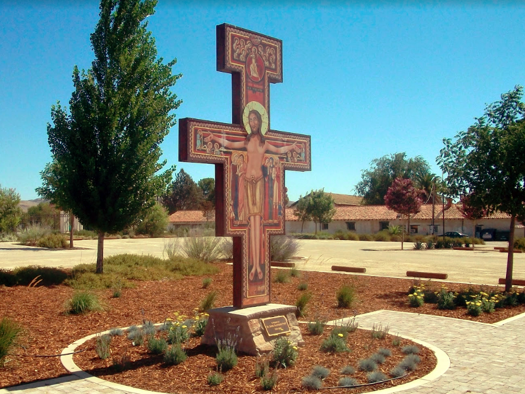 Fabricated, painted and gilded the San Damiano Cross at the Old Mission San Miguel in California. A National Landmark, established by the Spanish in 1799.