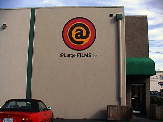 @ Large Films Inc. wall sign