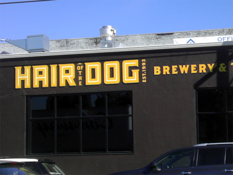Hair of the Dog Brewery, painted wall sign